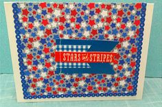 Stars and stripes Card Making, Stripes, Quilts, Blanket, Stars, How To Make, Quilt Sets, Sterne, Blankets