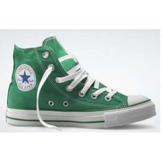 Converse Shoes Chuck Taylor All Star Hi- green Converse All Star, Converse Shoes, For Your Eyes Only, Only Fashion, Chuck Taylor Sneakers, Shoe Brands, High Top Sneakers, Clothes, Stars