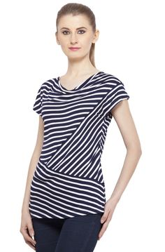 Navy Blue striped top