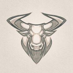 Mascot design // Client W. Animal Sketches, Animal Drawings, Cool Drawings, Art Sketches, Toros Tattoo, Taurus Bull Tattoos, Mascot Design, Cartoon Art, Body Art Tattoos