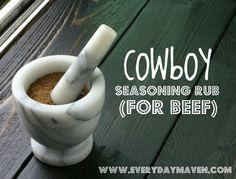 Cowboy Seasoning Rub {for Beef}