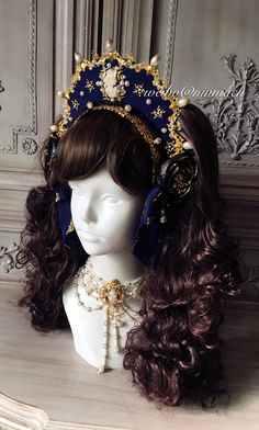Cheap Lolita Headdresses, Lolita Headbows, Headbands, Hairclips etc from Taobao indie brands Lolita Mode, Lolita Style, Queen Outfit, Bride Hair Accessories, Halloween Hair, Cosplay, Tiaras And Crowns, Lolita Dress, Lolita Fashion