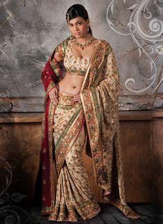 long Indian hair sarees   Bengali Wedding Sarees