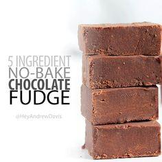 5-Ingredient Vegan Fudge
