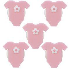 Handgemachte süsse rosa Baby-Body Zuckerdekors für Cup Cakes und als Tortendeko