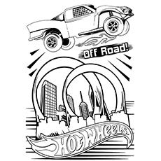 Hot Wheels Colouring Pages