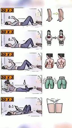 Full Body Workouts, Fitness Workouts, Gym Workout Videos, Gym Workout For Beginners, Fitness Workout For Women, Butt Workout, Body Fitness, Easy Workouts, Health Fitness