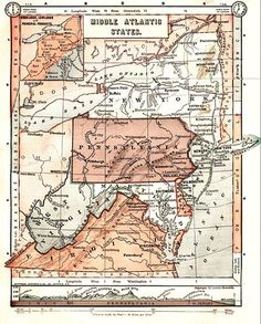 mid atlantic states, map, history, maryland
