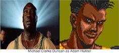 """The late Michael Clarke Duncan (God rest his soul) as Adam Hunter if he was alive and around. Why not? He was perfect as John Coffey in """"The Green Mile"""". I think he would have made a great Adam Hunter in the Streets Of Rage movie. Adam Hunter, He Is Alive, Beat Em Up, Tv Shows, Rest, Actors, God, Movies, Dios"""