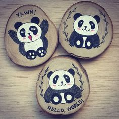 Fridge magnets are now available with your favorite customized design Wooden Painting, Seashell Painting, Wood Burn Designs, Hand Work Design, Wood Slice Crafts, Wooden Slices, Hand Embroidery Videos, Wood Ornaments, Stone Art