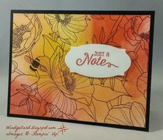 I saw a card in my Stampin' Success magazine (SU! magazine   for demos) I wanted to case.   I used the Inside the Lines DSP from the  ...