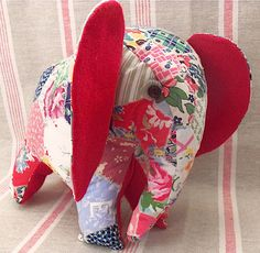 Charlie the Patchwork Elephant Free Pattern - must register to download.