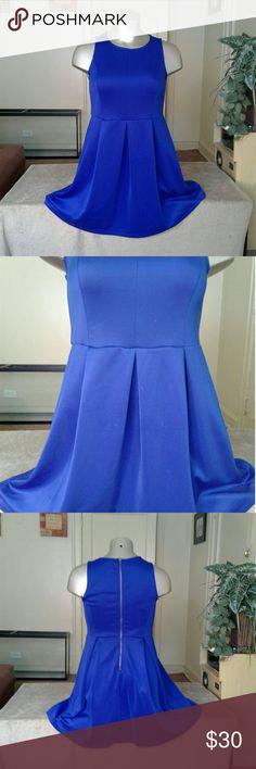 Forever 21 Neon Blue Beautiful Dress Dress says 3X But fits like a 2X Dresses Midi