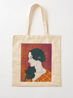 """Lady with Dark Blue Hair"" Tote Bag by BlertaDK 