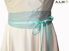Seidengürtel in Mint von alw-design auf DaWanda.com
