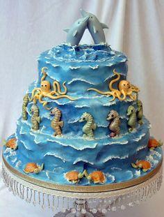 beach wedding cakes - Google Search