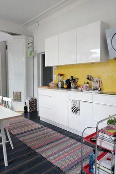 COSY HOME / Yellow kitchen tiles https://cosyhomeblogi.wordpress.com/