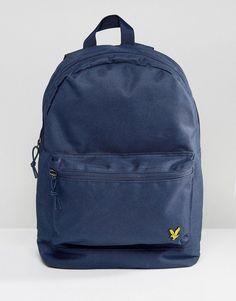 Lyle & Scott Logo Backpack in Navy - Navy