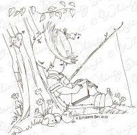 Whimsy Stamps - Elisabeth Bell - Little Jack & Bobbin Snoozin'