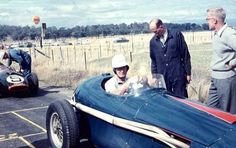 Ted Gray and the Tornado Chev, Australian Grand Prix, Longford 1959 (Ellis French)...