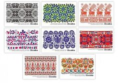 Ľudový ornament Russian Folk Art, Mountain Tattoo, Folk Embroidery, Sugar Art, Needlework, Arts And Crafts, Weaving, Stitch, Pattern