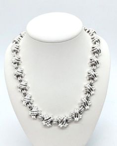 cc234ceb6 1990 Sterling Silver Signature X Necklace,Length - 16