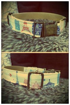 Paris Dog collar / Collar para perro Paris
