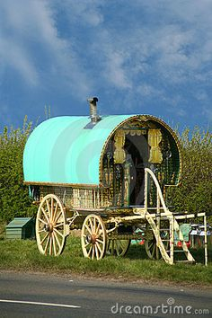 Old gypsy caravan by Neil Johnson, via Dreamstime