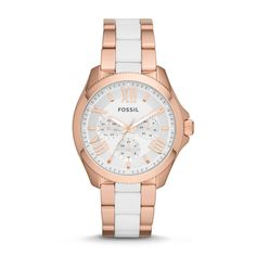 Fossil Cecile Multifunction Stainless Steel and Nylon Watch - Rose