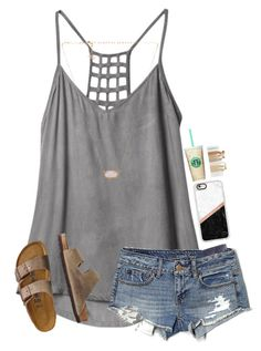 """"" by mmprep on Polyvore featuring RVCA, American Eagle Outfitters, TravelSmith, Kendra Scott and Casetify"