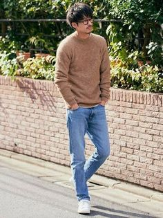 Sweater Outfits, Casual Outfits, Asian Men Fashion, Womens Fashion, Japanese Men, Traditional Japanese, Moda Casual, Japanese Outfits, How To Pose