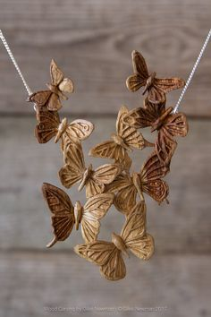'Kaleidoscope' Butterfly Necklace « Giles Newman Art Wood Carving