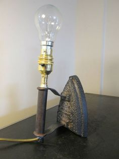 An-upcycled-Antique-flat-cast-iron-Lamp-conversion-Industrial-Chic-Steampunk