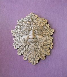 mask Green Man by WoodenCharmedKnots on Etsy