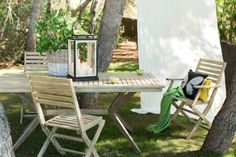 Pfister Table and Folding Chair, Outdoor Ideas, Garden, Terrace, Furnishing and Decoration Ideas