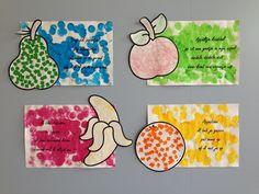 Versjes fruit 3 Year Old Activities, Alphabet Activities, Preschool Activities, School Themes, Crafts For Kids, Projects, Fruit Fruit, Colors, Healthy Nutrition
