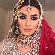 Pakistani Jewelry, Pakistani Bridal, Meka Up, Indian Look, Concealer, Bridal Jewelry, Highlight, Makeup Looks, Foundation