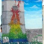 A Rainbow of Vegetation Consumes a 7-Story Building in a New Mural from 'Blu' in Rome