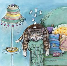 By Gary Paterson cat drawings I Love Cats, Crazy Cats, Cool Cats, Gary Patterson, Image Chat, Gatos Cats, Cat Colors, Cat Drawing, Whimsical Art