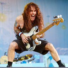 Steve Harris, Iron Maiden - Hellfest 2014 by Ronan Thenadey Heavy Metal Bands, Heavy Metal Rock, Bruce Dickinson, Power Metal, Blues Rock, Hard Rock, Punk, Rock N Roll, New Wave