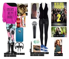 """""""Me in Pitch Perfect 2"""" by moon-and-back-babe123 ❤ liked on Polyvore featuring Boohoo, Converse, LifeProof, Beats by Dr. Dre, River Island, Paige Denim, adidas, Eos and Smith & Cult"""