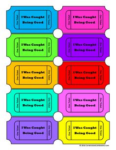 Encourage Your Child's Positive Behavior with This FREE Printable--Caught You Being Good Tickets!