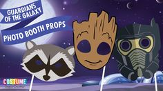 Free Printable Guardians of the Galaxy Masks Perfect for Halloween, photo booths, birthdays and pretend play!