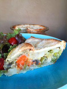Vegan Chicken & Mixed Vegetable Pot Pie #BeyondMeat