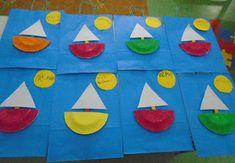 Summer Crafts, Summer Fun, Diy And Crafts, Crafts For Kids, Arts And Crafts, Ocean Activities, Preschool Games, Beach Art, Kindergarten