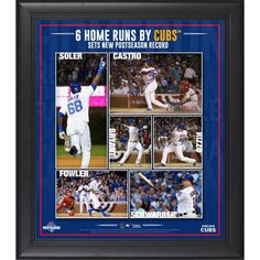"Chicago Cubs Fanatics Authentic 2015 MLB Playoffs NLDS Game 3 Home Run Record Framed 15"" x 17"" Collage - $49.99"