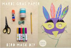 Celebrate Mardi Gras at home with these great DIY masks for kids - Cool Mom Picks Craft Projects For Kids, Fun Activities For Kids, Arts And Crafts Projects, Diy Crafts For Kids, Daycare Crafts, Craft Ideas, Art Activities, Rum, Bird Masks