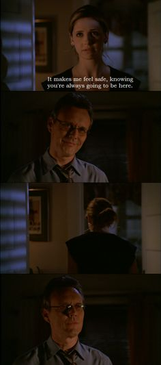 Buffy and Giles from Buffy the Vampire Slayer.