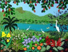 Garças na lagoa, s.d. Lúcia de Lima (Brasil, contemporânea) acrílica sobre tela, 27 x 35 cm www.luciadelima.com