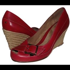 Aerosoles Espadrilles Red Wedges New without box: beautiful red Espadrilles wedges by Aerosoles. Size 10. Never worn. AEROSOLES Shoes Wedges